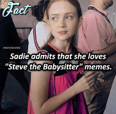 everyone loves steve the babysitter memes Stranger Things Have Happened, Stranger Things Season, Stranger Danger, Don T Lie, Sadie Sink, Dc Legends Of Tomorrow, Strange Facts, Strange Things, Lol