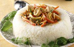 Κοτόπουλο με κάρι και γάλα καρύδας - Συνταγές - Πιάτα ημέρας | γαστρονόμος Cooking Recipes, Healthy Recipes, Rice, Meals, Dishes, Chicken, Meal Ideas, Ethnic Recipes, Food