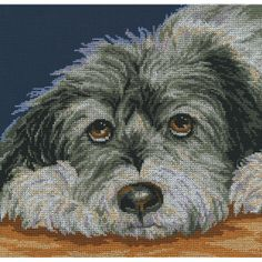 RTO counted-cross-stitch Kit Dog MelancholyRTO counted-cross-stitch Kit Dog Melancholy,