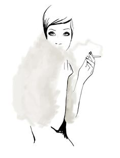 Garance Dore The Last Smoke limited edition print