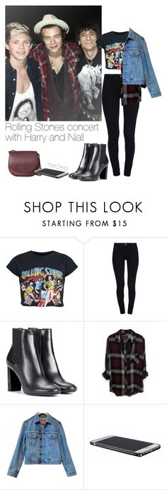 """""""Rolling Stones concert with Harry and Niall"""" by leftsouls ❤ liked on Polyvore featuring STELLA McCARTNEY, Yves Saint Laurent, Rails and Levi's"""
