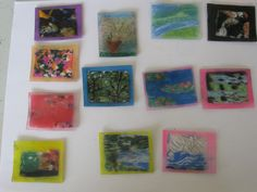 Mini Monet Shrinky Dinks