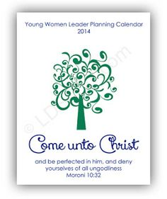 Young Women Leader Planning Calendar 2014 - LDS Young Women
