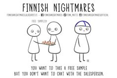 If you consider yourself an introvert then the Finnish artist Karoliina Korhonen totally understands you. By definition an introvert is someone who's shy and Meanwhile In Finland, Extroverted Introvert, Intj, Funny Memes, Hilarious, Carl Jung, Funny Comics, Funny Photos, Nostalgia
