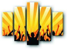 DecoArt24.pl Pięcioczęściowy obraz na płótnie zatytułowany Impreza.  Autorstwa: James Thew Cena 299.00