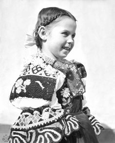 Trnava, Photo: Jarmila Pátková, Archive of the Institute of Ethnology in Bratislava Folk Costume, Costume Dress, Costumes, The Shining, Historical Costume, Vintage Pictures, Folklore, Traditional Outfits, Bratislava