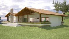 Projeto de casa térrea de 5 quartos com 219,73m²