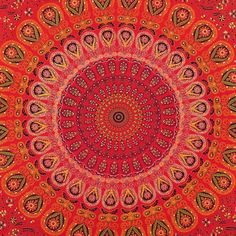 ... HIPPIE INDIAN MANDALA TAPESTRY BEDSPREAD THROW Picnic Bohemian Decor http://www.shilimukh.com/product-category/tapestry-bedsheets
