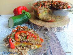Moje Małe Czarowanie: Zapiekany makaron z płaskurki z warzywami