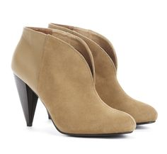 khaki booties shoes, fashion, ankle boots, colors, camels, ankl booti, tan, black, sole societi