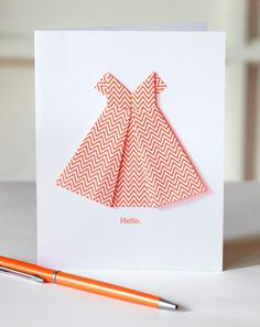Oragami dress card