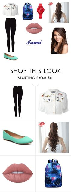 """""""Izumi"""" by lilibessa on Polyvore featuring moda, Lipsy, Moschino, Pin Show, Lime Crime e Tommy Hilfiger"""