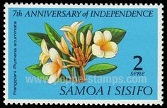 Poppe Stamps: Samoa, 1969, 319, Anniversary, Independence, Flowers - stamps for sale by theme and country