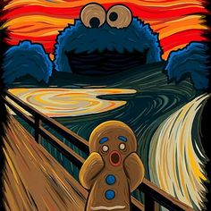 Arts And Crafts Wallpaper Squidward Painting, Scream Parody, Arte Alien, Le Cri, Arte Pop, Cute Cartoon Wallpapers, Funny Art, Oeuvre D'art, Pop Art