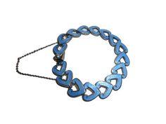 Electric Blue. Champlevé Enamel Sterling Bracelet. In by decotini, $300.00
