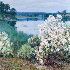 Kalmia  -   Willard Leroy Metcalf 1905  American painter 1858-1925  Impressionism