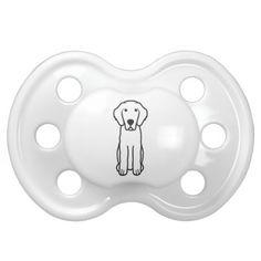 Leonberger Dog Cartoon Baby Pacifier