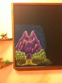 Waldorf ~ 1st grade ~ Letter: M ~ Mountain ~ chalkboard drawing