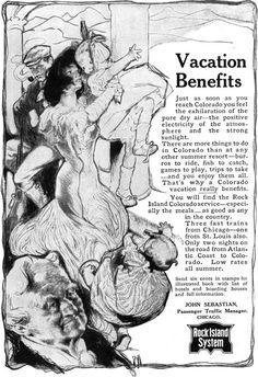 CHICAGO Rock Island System ROSE O'NEILL Vacation Benefits ORIGINAL 1905 PRINT AD