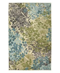 Loving this Aqua Floral Radiance Rug on #zulily! #zulilyfinds