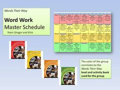 Classroom Freebies: Words Their Way: Classroom Example of Organizational System used by Ginger and Kim