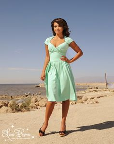 Luscious Dress in Mint with Mira the Mermaid