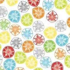Papier peint - Tissu Fruit slice in white by Khristian A Howell fat quarter - de JessieandJoanie