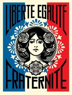 Shepard Fairey・Obey Giant・Liberté Égalité Fraternité・S/N/450 Screen Print・RARE!