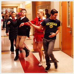 Darren from Glee shows his support #goblue #themichigandifference