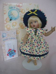 """Kish RILEY CONTEMPO DOLL, ARTICULATED, Dressed, Exc cond, with STAND, 7 and 1/2"""" #Kish sold 1/2018 a TomiJane creation."""