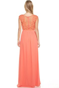 6471afb7d639 Affordable Crochet Chiffon long Bridesmaid dress Navy, Coral, Grey, Mint &  Blush