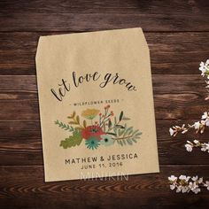 Wildflower Seed Favor Rustic Wedding – W-A139