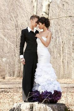 Pics for lesbian wedding suit ideas for Lesbian wedding dresses and suits