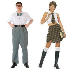 Pareja Disfraces de Estudiantes #parejas #disfraces #carnaval