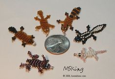 beaded animal craft | 2d beaded animals 2 all of these were made with 11 0 seed beads and 34 ...