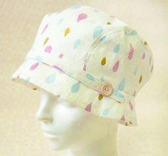 ガーゼ素材で出来た帽子は、軽くて持ち運びも便利! 親子でおそろいの帽子を作ってもいいですね♪ A hat made of gauze material, lightweight and portable! Enjoy matching hat as parent & kid!   #hat #sewing #handmade #JAGUAR