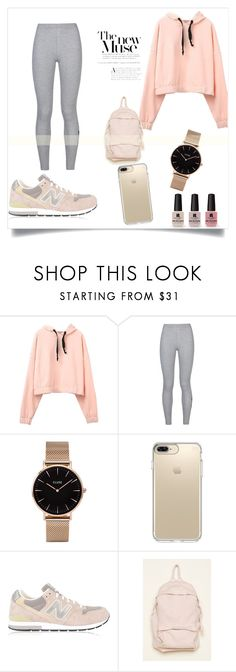 """School outfit"" by alejomarianne on Polyvore featuring Victoria's Secret, NIKE, CLUSE, Speck and New Balance"