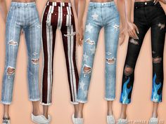 The Sims 4 Straight Ankle Jeans 02 Sims 4 Cc Packs, Sims 4 Mm Cc, Sims Four, Sims 4 Cc Kids Clothing, Sims 4 Mods Clothes, Teen Clothing, Maxis, Sims 4 Traits, Sims 4 Children