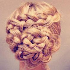 Wedding hair braided updo's