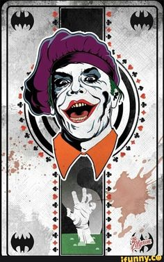 DC Comics in film - 1989 - Batman - Jack Nicholson as The Joker Art Du Joker, Le Joker Batman, Harley Quinn Et Le Joker, Black Batman, Gotham Batman, Batman Art, Batman Robin, Tim Burton, Comic Books Art