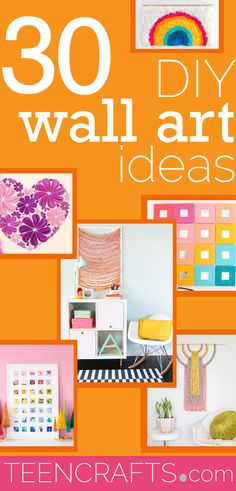 Cool Wall Art Ideas for Teens - Cheap and Easy DIY Canvas Projects, Paintings and Arts and Crafts for Bedroom Walls - Inexpensive, Quick Project Tutorials for String Art, Crayon, Yarn, Paint Chip, Boho, Simple and Modern Decor for Teens, Teenagers and Tweens - Colorful and Creative Paint, Glue and Mod Podge Craft Idea #teencrafts #diyideas #roomdecor Art Ideas For Teens, Crafts For Teens, Teen Crafts, Letter Wall Art, Mirror Wall Art, Cool Wall Art, Diy Wall Art, Wall Decor, Paint Chip Wall