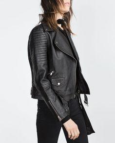 Image 5 of LEATHER JACKET from Zara