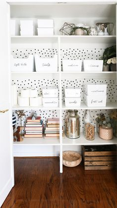 Household Closet Organization and Labels - Classy Clutter Home Office Closet, Office Wardrobe, Capsule Wardrobe, Craft Closet Organization, Organization Ideas, Closet Labels, The Home Edit, Design Furniture, Cheap Home Decor