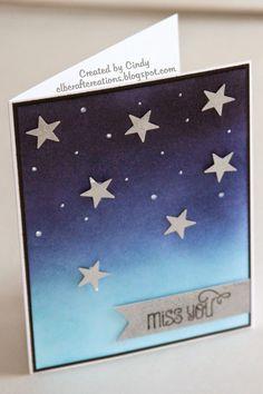 Cindy's Craft Creations: Starry Night Sky - SUO Challenge