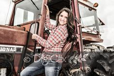 Senior photography, farm, female poses, senior, girls, female, DigiClix Photography, tractor, country girl, photography, poses, senior portraits