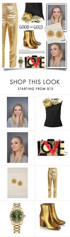 """""""Empire dreams!"""" by samra-bv ❤ liked on Polyvore featuring Dries Van Noten, Diophy, Hillier Bartley, Rolex, Sam Edelman and vintage"""