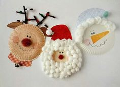Benodigdheden: partybordje bolletje wol (Etos) papier om de mutsen te maken