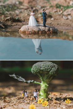 Better in Miniature: Pre-Wedding Photos by Ekkachai Saelow