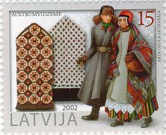 Latvian National Costumes. There are hundreds of different national costumes in Latvia, every region has its own.   Austrumvidzemes dūraiņi un tautu tērpi.