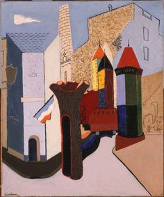 """John D. Graham (1887-1961), """"Rue Brea"""" - (""""To See as Artists See: American Art from The Phillips Collection"""" ~ Washington, DC, USA @ Tampa Museum of Art ~ Tampa, Florida, USA)"""